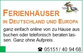 Ferienhäuser in Deutschland und Europa