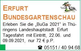 Erfurt Bundesgartenschau - Erleben Sie die BuGa 2021